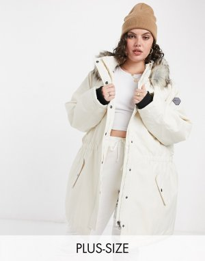 Only Curve Parka jacket in cream